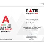 """Dubai SME Rated Quick """"A"""""""